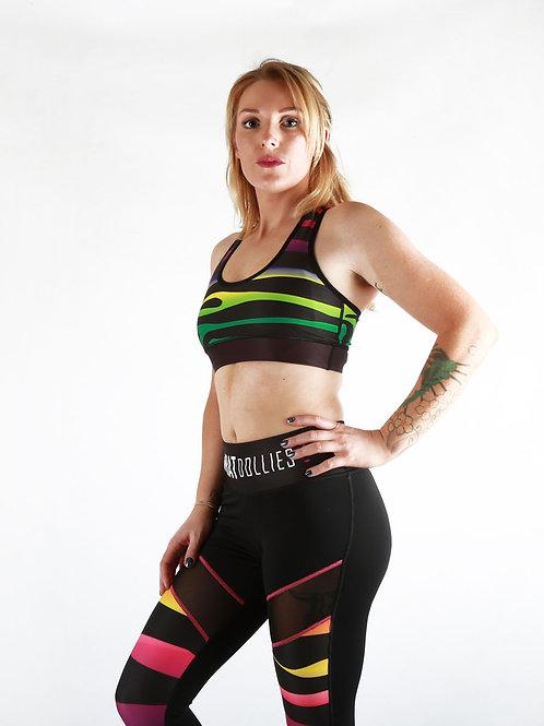 Multi-Stripe Sports Bra