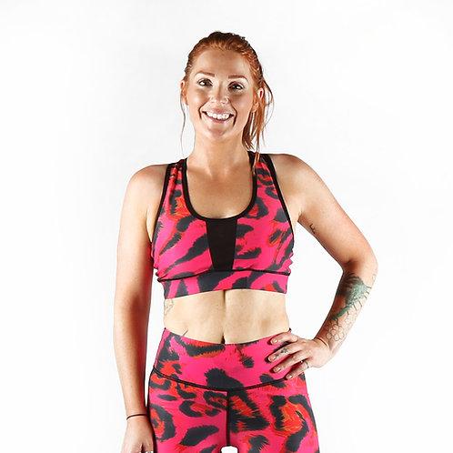 Pink Leopard Sports Bra