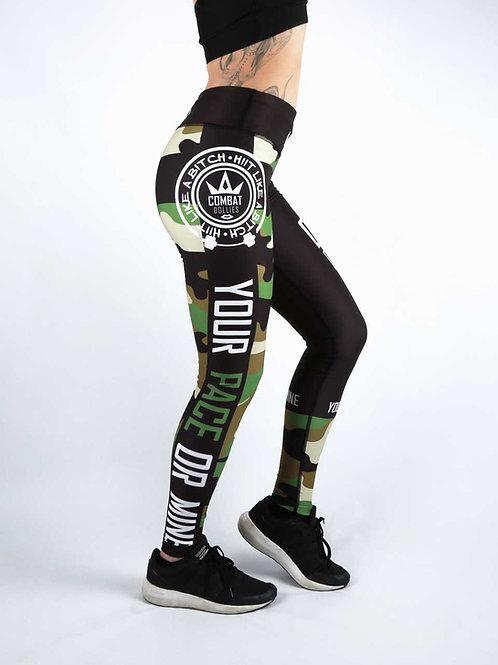 Green Camo Fitness Leggings