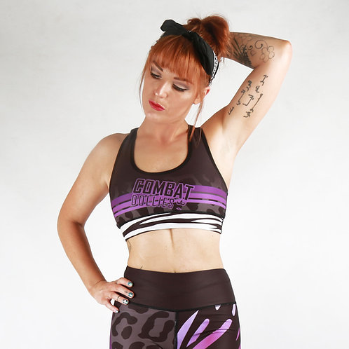 Wild Purple Sports Bra