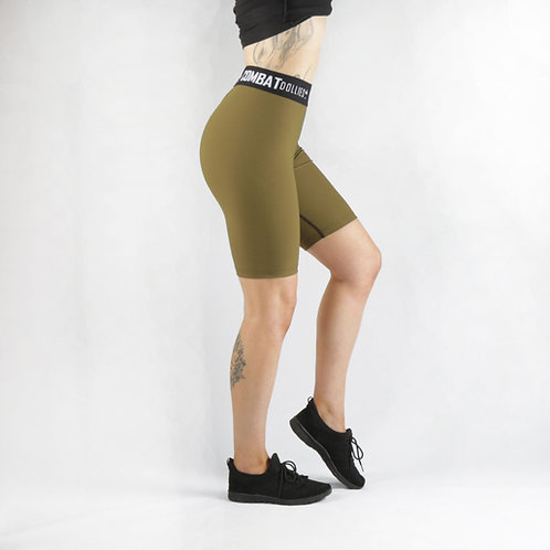 Khaki Blok Long Shorts
