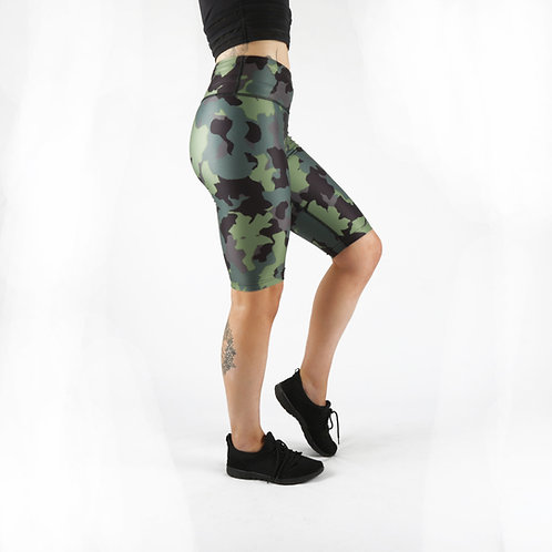 Khaki Camo Cycle Shorts
