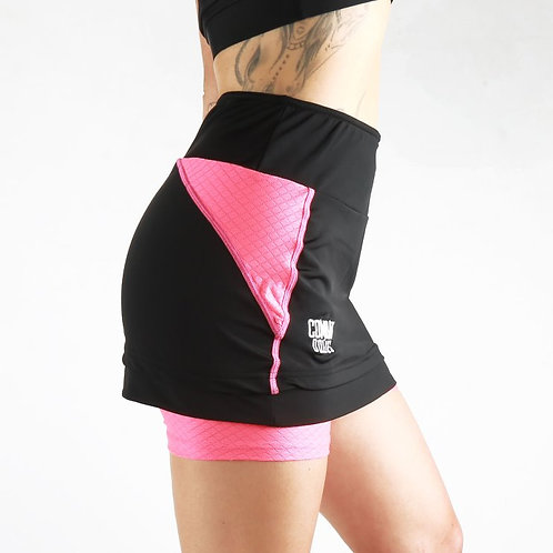 Pink / Black Training Skort