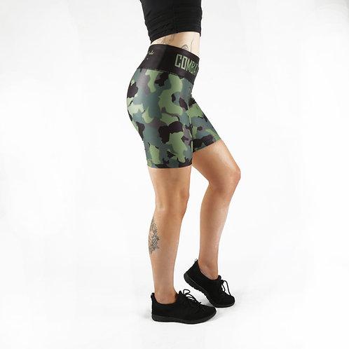 Khaki Camo Gym Shorts