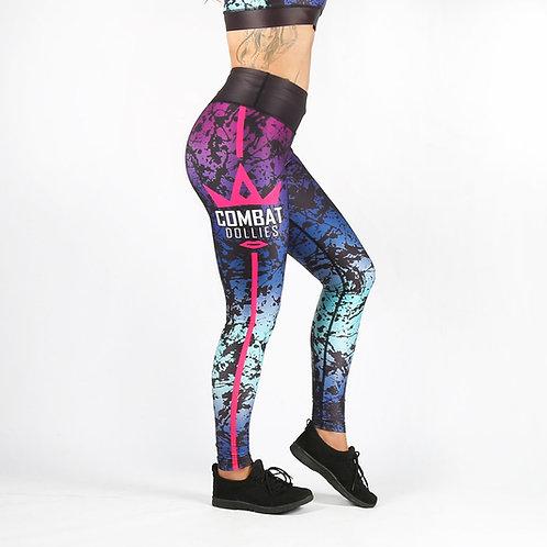Black Splatter Fitness Leggings