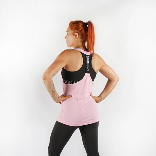 Baby Pink T-Back Tank