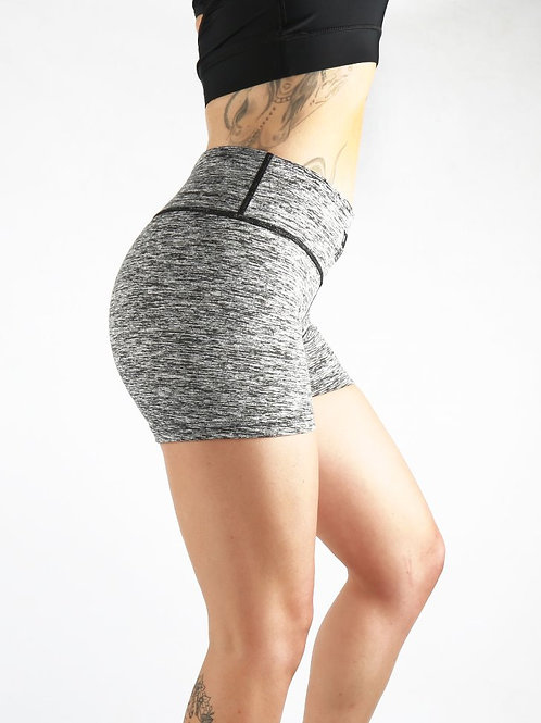 Hazel Grey High waist Shorts