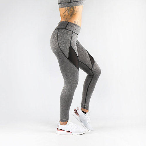 Grey Pocket Fitness Leggings