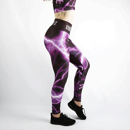 Purple Lightning Fitness Leggings