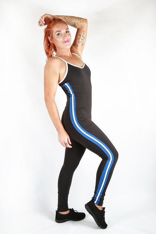 Blue Stripe Gym Jumpsuit