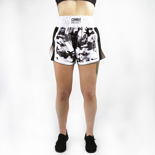 Grey Camo Fight Shorts