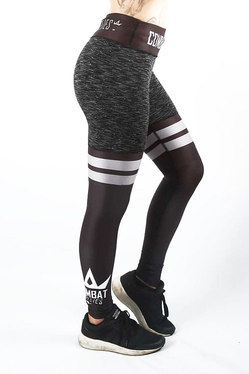 Black Mix High Leg Fitness Leggings