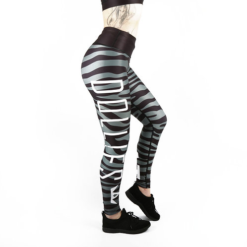 Grey Zebra Fitness Leggings