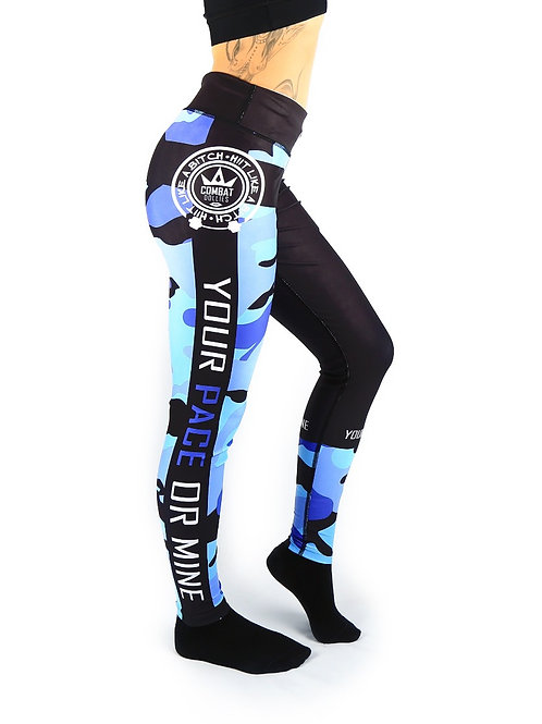 Blue Camo Fitness Leggings