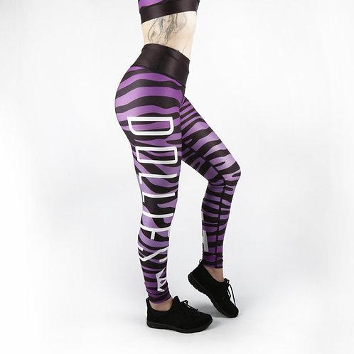 Purple Zebra Fitness Leggings