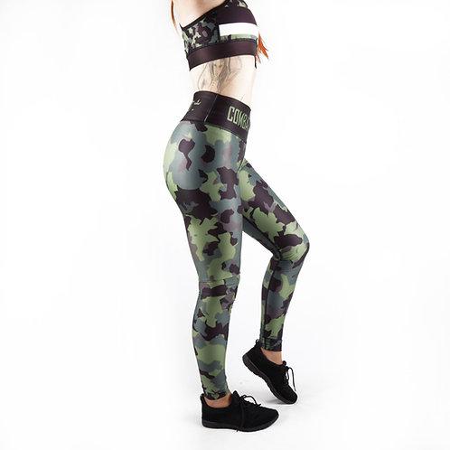 Complete Khaki Camo Fitness Leggings
