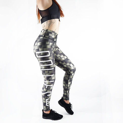 Metallic Weave  Fitness Leggings