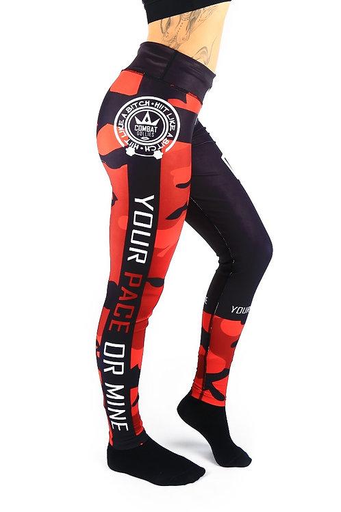 Red Camo Fitness Leggings