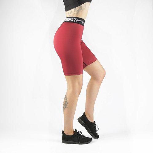 Maroon Blok Long Shorts