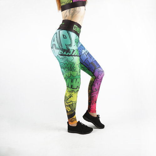 Multi-coloured Comic Fitness Leggings
