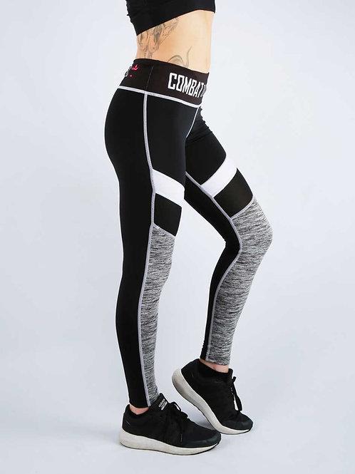 Black Burnout Mix Fitness Leggings