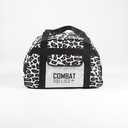 White Leopard Print Sports Bag