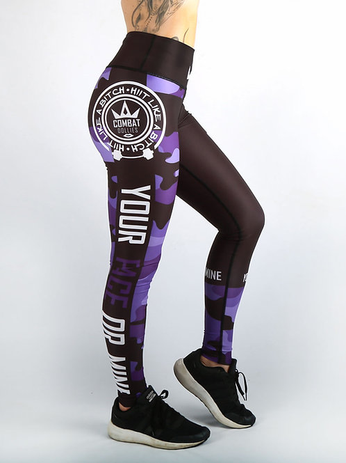 Purple Camo Fitness Leggings