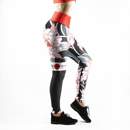 Tumbling Peonies Fitness Leggings