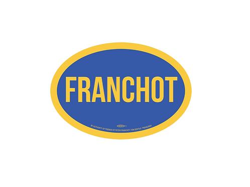 Team Franchot Oval Magnet