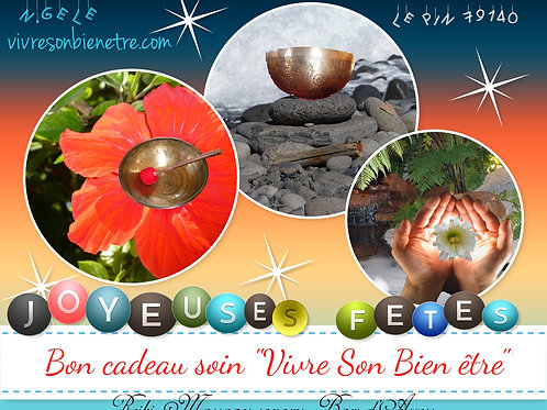 """Bon cadeau séance 'Bien Etre"""" Joyeuses Fêtes"""