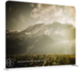 Zipper-Wall kann individuell beidseitig bedruckt werden