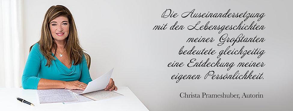 Facebook Titelbild für Christa Prameshuber, Buchautorin.