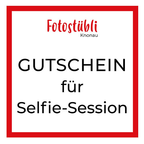 GUTSCHEIN TOP 20 Selfie-Session