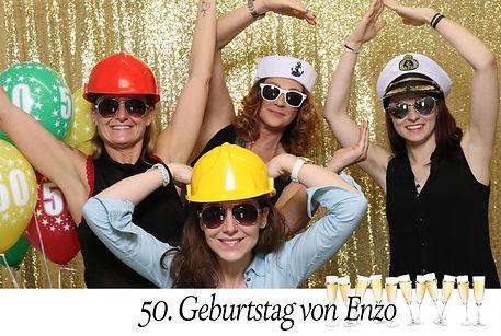 Individuelles Fotobox-Layout für Geburtstagsfeste
