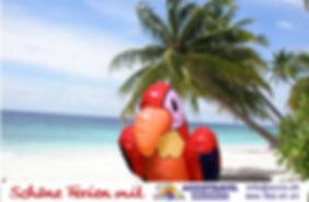 Fotobox mit Greenscreen-Hintergrund Karibik