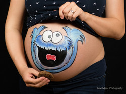 Krümelmonster-Babybauch