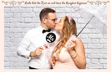 Fotobox Druck-Layout Hochzeit