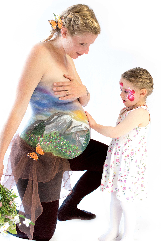 Schwangerschaft Airbrush & Painting