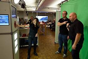 Fotobox mit Greenscreen und Animation an der WIR Messe Zürich.