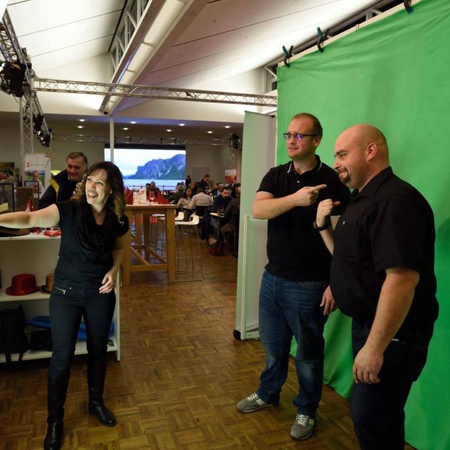 Greenscreen Fotobox mit Betreuung