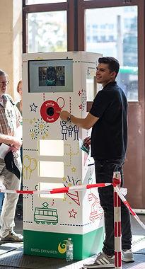 Fotobox am BVB Tag der offenen Tür mit Branding