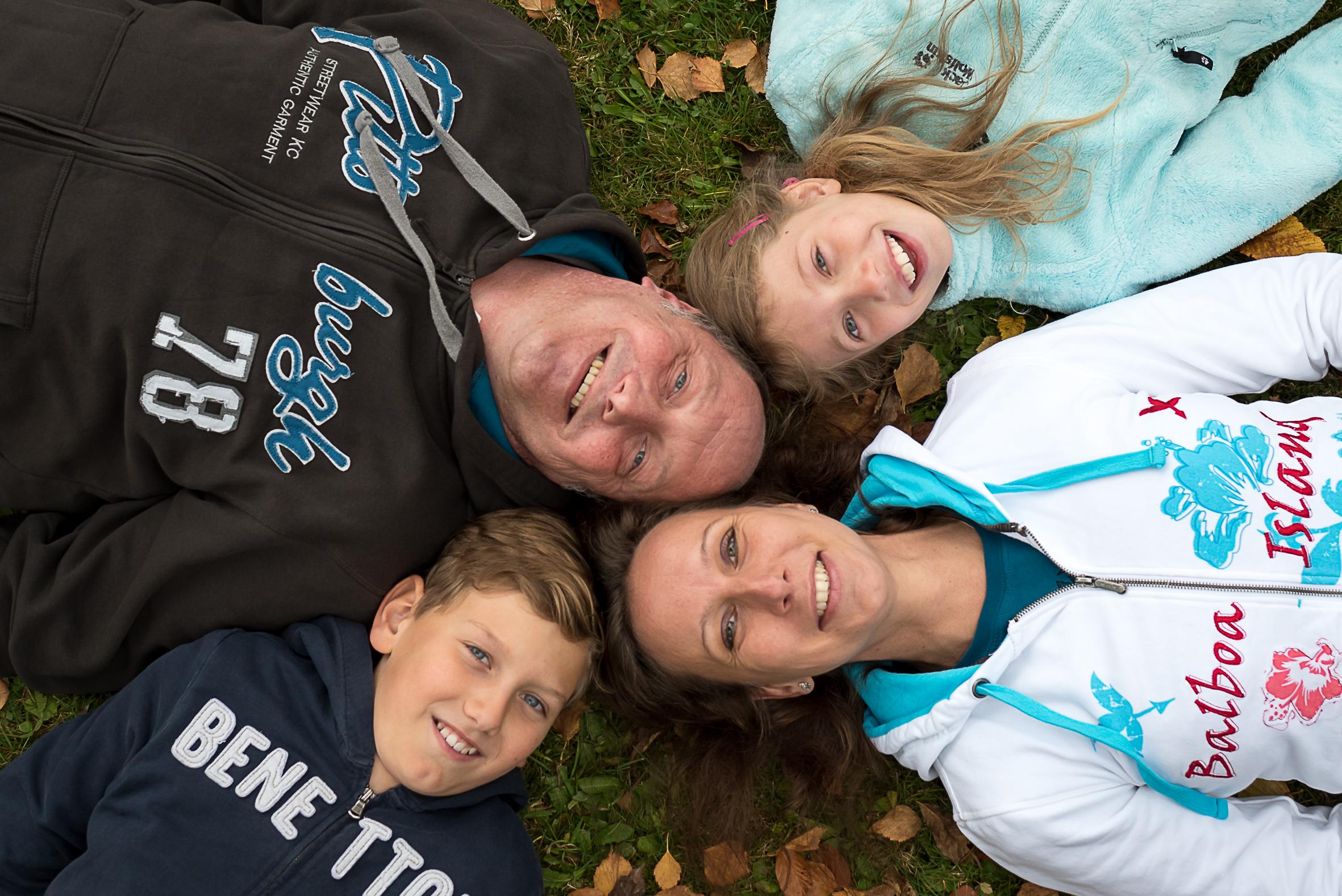 Posing Familienfoto
