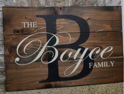 monogram family sign