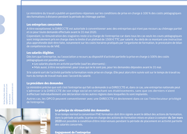 COVID 19 - Financement des formations par l'Etat - Précisions