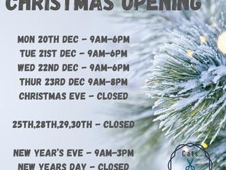 Christmas 2021 Hours