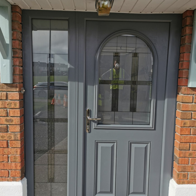 Beckett Door in Basalt grey