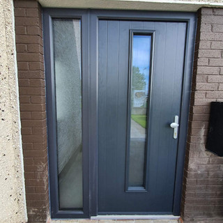 Behan Door in Anthracite with Strippolyte Glass