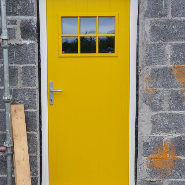 Pearse Door in Zinc Yellow  with Clear Glass
