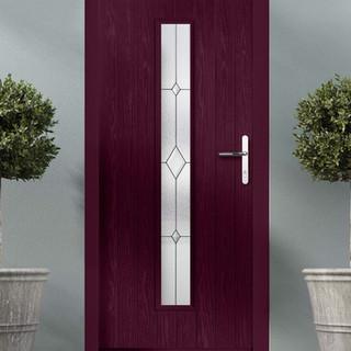 Behan Door in Purple Violet with Tory Glass