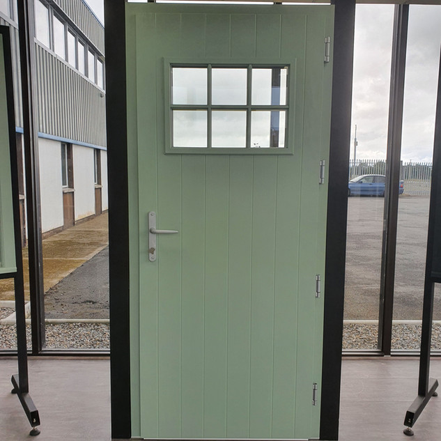Pearse Door in Chartwell Green with Clear Glass